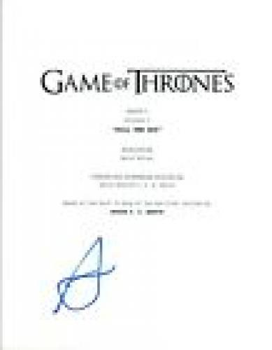 "Alfie Allen Signed Autographed Game of Thrones ""Kill The Boy""  Episode Script VD"