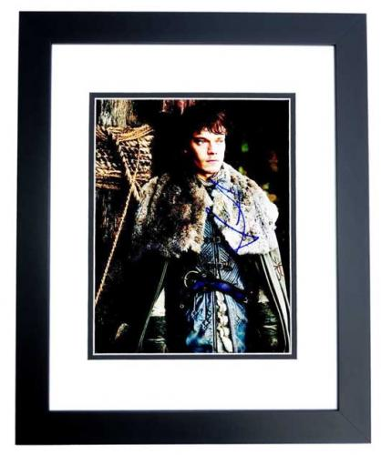 Alfie Allen Signed - Autographed Game of Thrones - Theon 8x10 inch Photo - BLACK CUSTOM FRAME - Guaranteed to pass PSA or JSA
