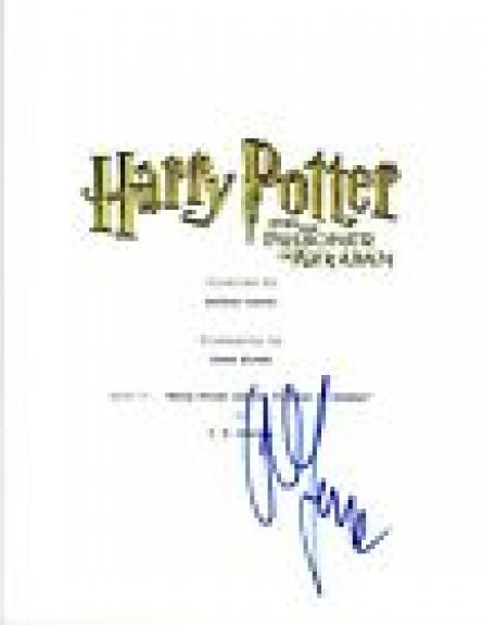 Alfonso Cuaron Signed HARRY POTTER & THE PRISONER OF AZKABAN Script COA VD
