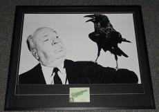 Alfred Hitchcock Signed Framed 33x41 The Birds Poster Display JSA