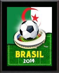 "Algeria 2014 Brazil Sublimated 10.5"" x 13"" Plaque"