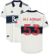 Ali Adnan Vancouver Whitecaps FC Autographed Match-Used #53 White Jersey from the 2020 MLS Season