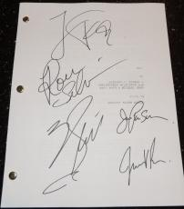 ALI Autographed Full Script by Will Smith, Jada Pinkett Smith, Jamie Foxx, Ron Silver, and Mario Van Peebles