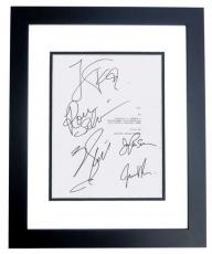 ALI Autographed Script Cover by Will Smith, Jada Pinkett Smith, Jamie Foxx, Ron Silver, and Mario Van Peebles BLACK CUSTOM FRAME