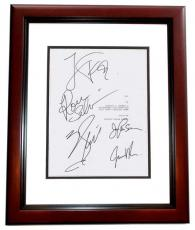 ALI Autographed Script Cover by Will Smith, Jada Pinkett Smith, Jamie Foxx, Ron Silver, and Mario Van Peebles MAHOGANY CUSTOM FRAME