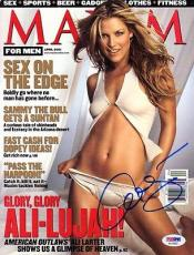 Ali Larter Signed Autographed Full Maxim Magazine Very Rare Psa/dna