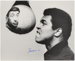 Muhammad Ali Autographed 16'' x 20'' with Cosell Photograph - Mounted Memories