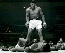 "Muhammad Ali Autographed 20"" x 24"" Over Liston Photograph"