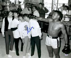 "Muhammad Ali Autographed 20"" x 24"" Punching Beatles Photograph"
