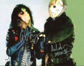 "Alice Cooper & Ari Lehman ""Jason 1"" Signed Friday The 13th 11X14 Photo PSA/DNA"