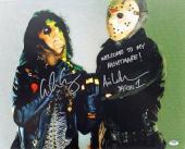 "Alice Cooper & Ari Lehman ""Welcome To My Nightmare"" Signed 16X20 Photo PSA/DNA"