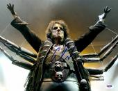 """Alice Cooper Autographed 11""""x 14"""" Dressed as Spider Photograph - PSA/DNA COA"""