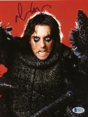 "Alice Cooper Autographed 8""x 10"" Dressed as a Spider Photograph - Beckett COA"
