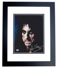 Alice Cooper Autographed 8x10 Photo BLACK CUSTOM FRAME