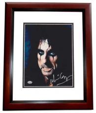 Alice Cooper Autographed 8x10 Photo MAHOGANY CUSTOM FRAME
