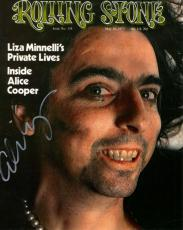 Alice Cooper Autographed 8x10 Rolling Stone Magazine Photo AFTAL UACC RD COA