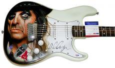 Alice Cooper Autographed Airbrushed Guitar UACC RD COA PSA