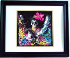 ALICE COOPER Autographed Album LP Flat    AFTAL