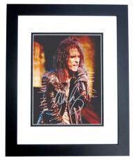 Alice Cooper Signed - Autographed Concert 8x10 Photo BLACK CUSTOM FRAME