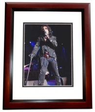 Alice Cooper Signed - Autographed Concert 8x10 Photo MAHOGANY CUSTOM FRAME