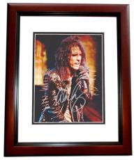 Alice Cooper Autographed Concert 8x10 Photo MAHOGANY CUSTOM FRAME