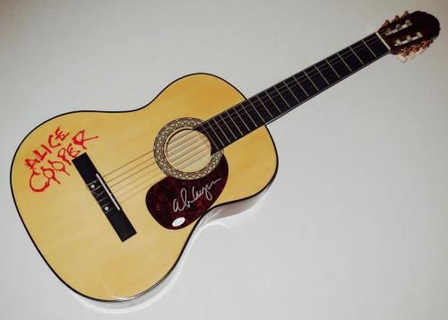 Alice Cooper Autographed Guitar (schools Out!) - Jsa Coa!