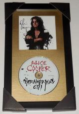 Alice Cooper Autographed Paranormal Cd (framed & Matted) - W/ Proof!