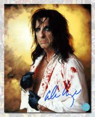 Alice Cooper Autographed Rock Star In Costume 8x10 Photo