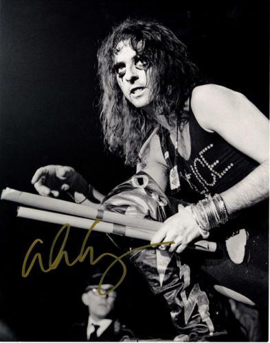Alice Cooper Autographed Signed B/W Concert 11x14 Photo UACC RD COA AFTAL