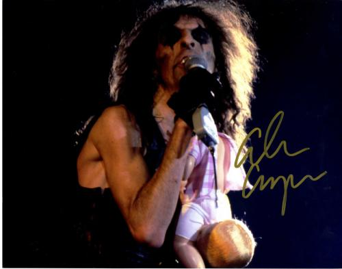 Alice Cooper Autographed Signed Concert Baby 11x14 Photo UACC RD COA AFTAL
