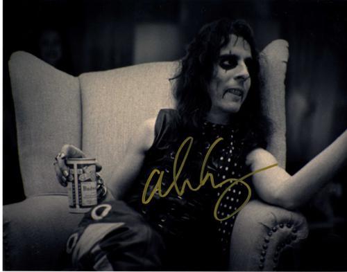 Alice Cooper Autographed Signed Drinking Bud 11x14 Photo UACC RD COA AFTAL