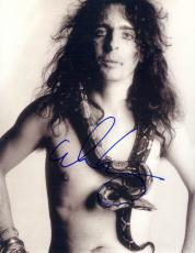 Alice Cooper Autographed Signed Nude Snake Poster Photo