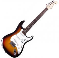 Alice Cooper Autographed Signed Sunburst Electric Guitar UACC RD COA AFTAL