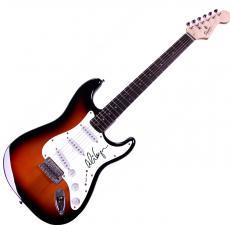 Alice Cooper Autographed Signed Sunburst Fender Guitar UACC RD COA AFTAL