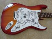 Alice Cooper & Band Signed Autographed Electric Guitar Music PSA Guaranteed
