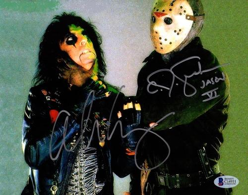 ALICE COOPER & C.J. GRAHAM Signed Friday The 13th 8x10 Photo Beckett BAS #C14931