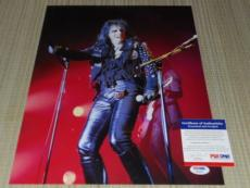ALICE COOPER COOL! SIGNED 11 X 14 PHOTO AUTOGRAPHED IP! PSA/DNA PROOF b
