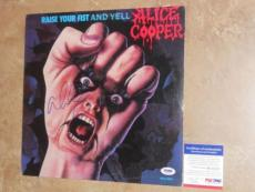 Alice Cooper COOL! Signed Raise Your Fist And Yell LP Record Album PSA/DNA PROOF