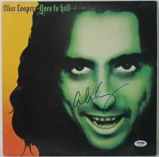Alice Cooper - Goes To Hell Signed Album Cover W/ Vinyl Psa/dna #s38078
