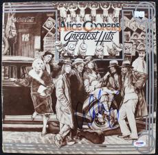Alice Cooper Greatest Hits Signed Album Cover W/ Vinyl PSA/DNA #T76247