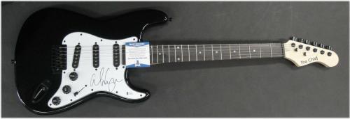 Alice Cooper Hand Signed Auto Guitar Rock Star Legend Goth Beckett BAS C39483