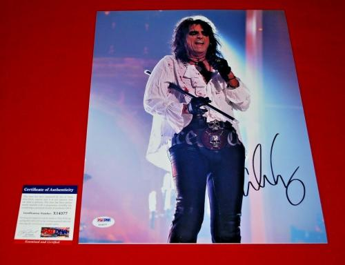 ALICE COOPER hollywood vampires signed PSA/DNA 11X14 photo 4