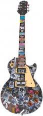 "Alice Cooper in Black"" Epiphone Les Paul, Artwork Guitar Decorated w/BS Passes"