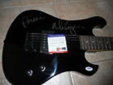 Alice Cooper IP Signed Electric Guitar W/ Lyrics POISON PSA Certified
