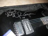 Alice Cooper IP Signed Electric Guitar W/ Lyrics SCOOLS OUT PSA Certified