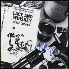 Alice Cooper Lace And Whiskey Signed Album Cover W/ Vinyl PSA/DNA #T76249