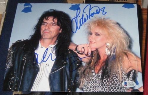 Alice Cooper Lita Ford Rock N Roll Legends Signed Autographed 8x10 Photo Bas/coa
