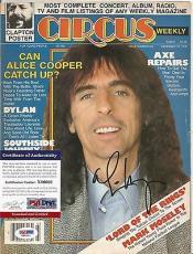Alice Cooper Music Legend Psa/dna Coa Signed Autographed Circus Magazine