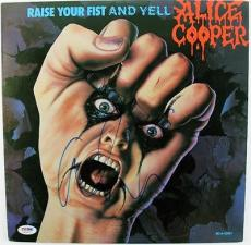 Alice Cooper Raise Your Fist And Yell Signed Album Cover W/ Vinyl Psa #s80822