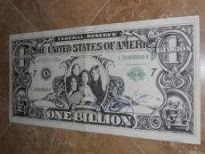 Alice Cooper Rare! Signed In-person 11x22 One Billion Dollar Babies Poster Proof